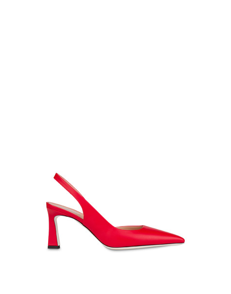 Cote d'Azur slingback in calfskin LAKY RED