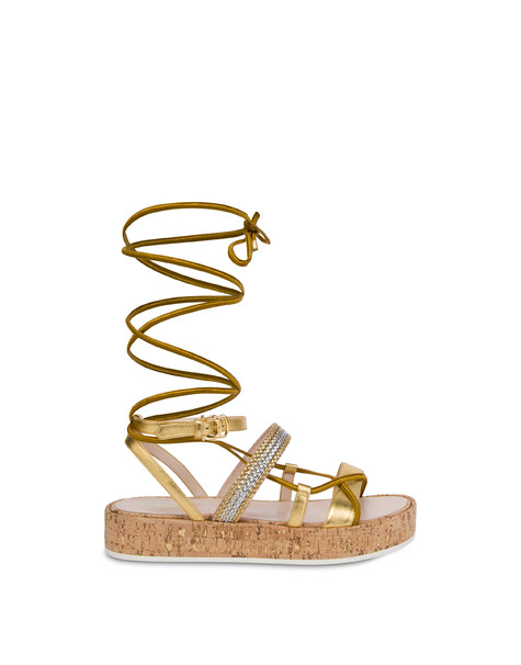 Constantinopolis laminated flatform sandals GOLD/GOLD-SILVER-PLATINUM/NATURAL-GOLD