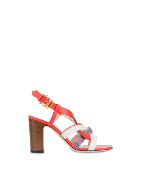 Greek Arco Wave calfskin sandals GERBERA/MILK/SKY