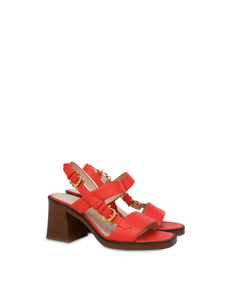 Sandalen aus Kalbsleder Buckle Notes Gerbera