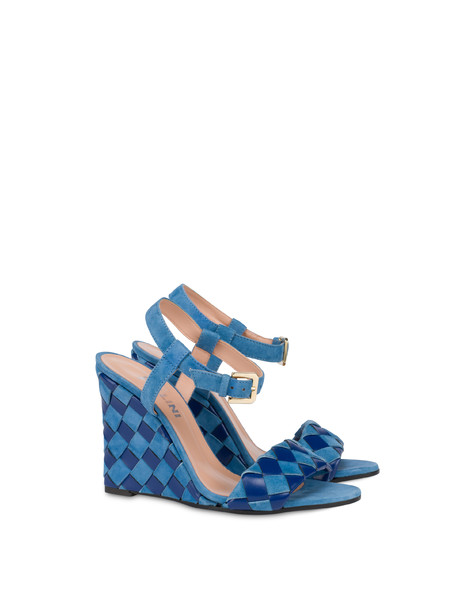The Queen Of Chess wedge sandals AZULEJOS/AZULEJOS