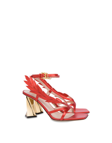 Shiny Laurel laminated nappa leather sandals GERBERA