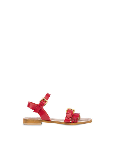 Islands cowhide sandals LAKY RED