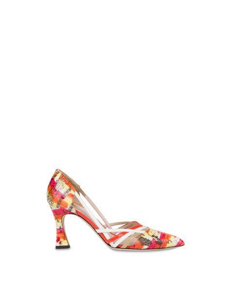 Febe pump in painted elaphe GERBERA/SAND/WHITE/GERBERA