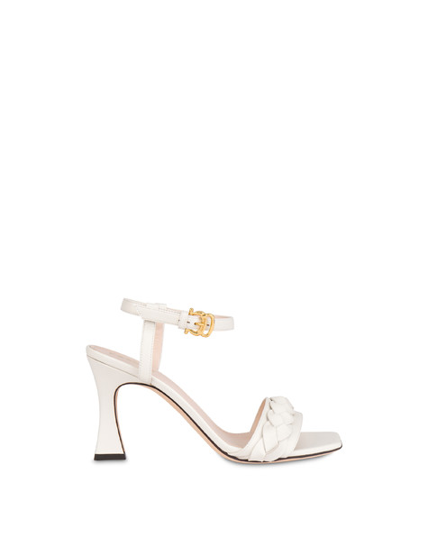 High sandals in Aura calfskin MILK