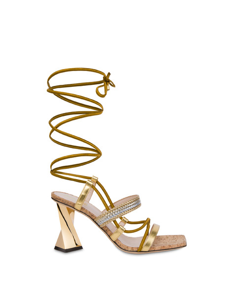Costantinopolis laminated nappa leather sandals GOLD/GOLD-SILVER-PLATINUM/NATURAL-GOLD