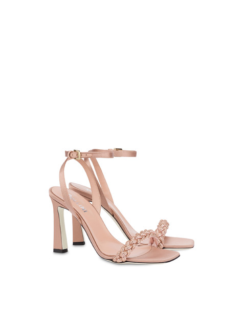 Starry Sky high satin sandals QUARTZ