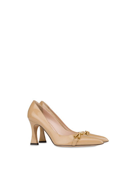 Aris patent leather high pump SAND