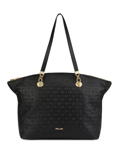 Heritage Logo Embossed tote bag BLACK