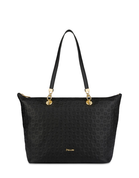 Heritage Logo Embossed shopping bag BLACK