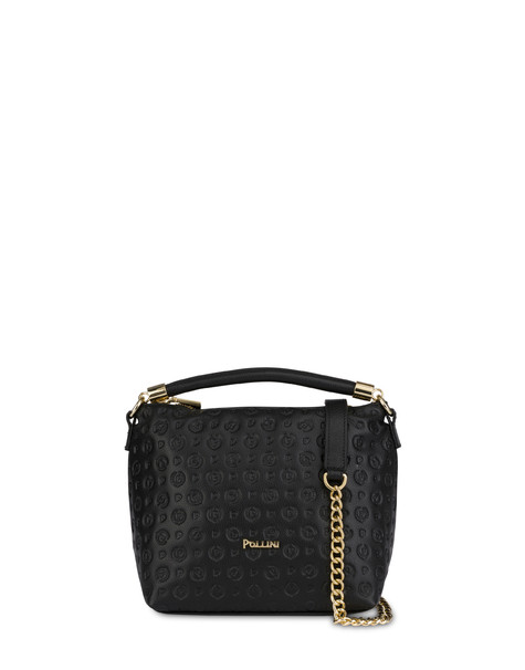 Heritage Logo Embossed handbag BLACK