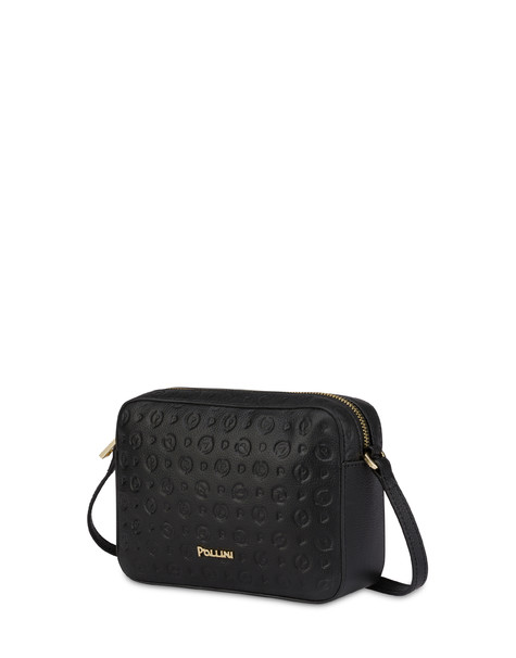 Heritage Logo Embossed shoulder bag BLACK