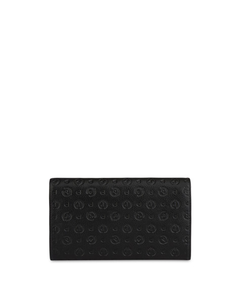 Heritage Logo Embossed wallet BLACK