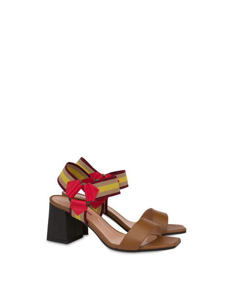 Serenissima leather sandals with elastic HIDE/LAKY RED/BLACK