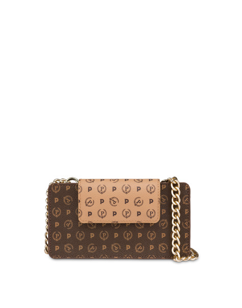 Clutch porta cellulare bicolor Heritage CREMA/MARRONE