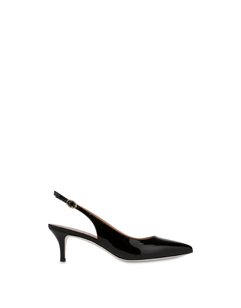 Annabelle patent leather slingback BLACK