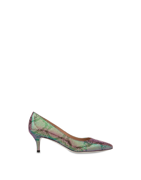 Annabelle pump with iridescent python print LAVENDER