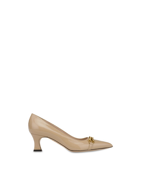 Aris patent leather pump SAND