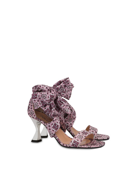 Azulejos satin sandals QUARTZ