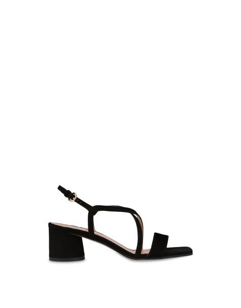 Sandalen aus Corinto-Wildleder Schwarz