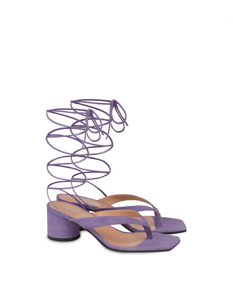Corinto suede thong sandals LAVENDER