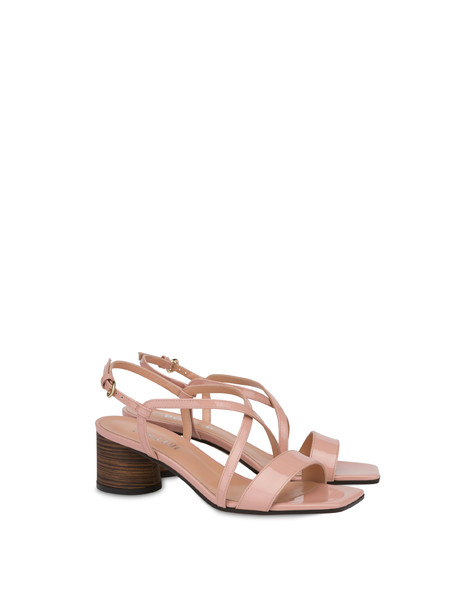 Corinto patent leather sandals QUARTZ/HIDE