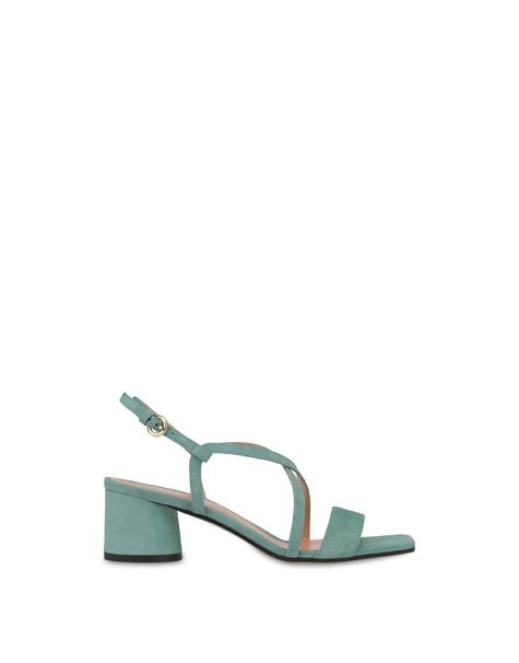 Sandalen aus Corinto-Wildleder Minze