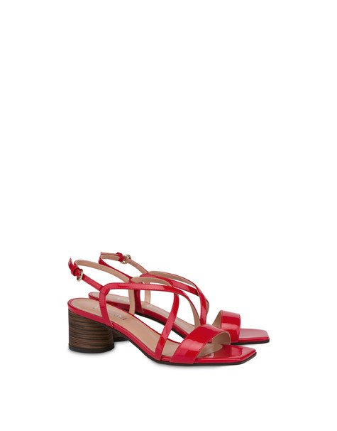 Corinto patent leather sandals LAKY RED/HIDE