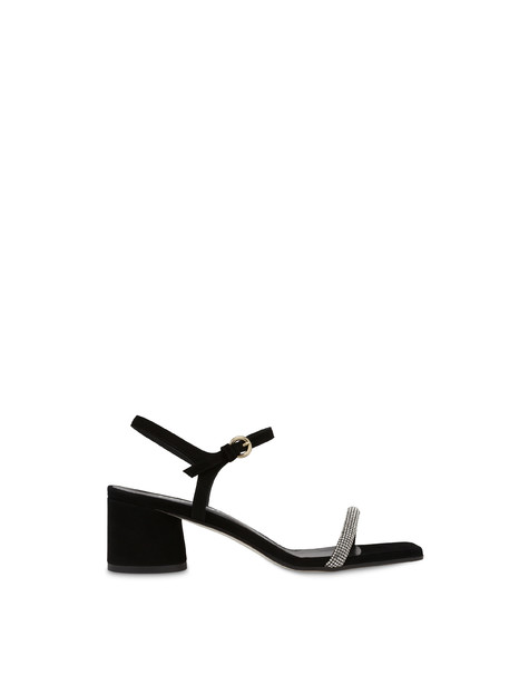 Corinto Lights suede sandals BLACK