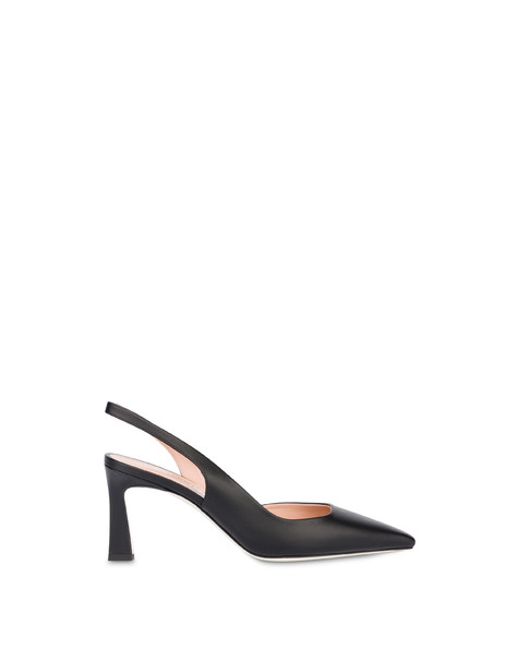 Slingback in vitello Cote d'Azur NERO