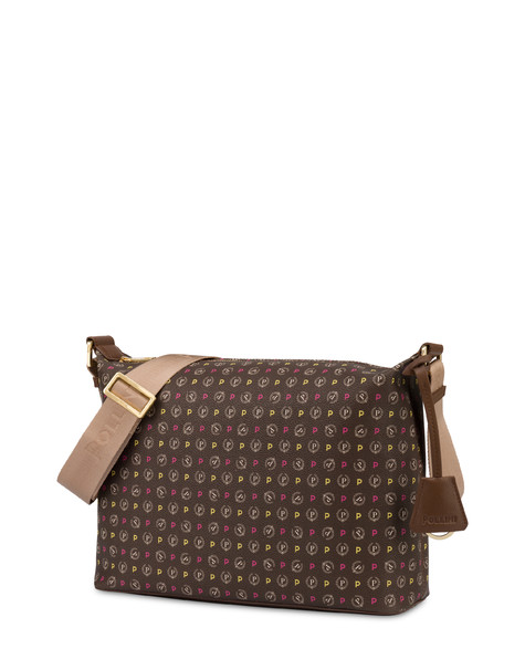 BORSA A SPALLA MULTICOLOUR/BROWN