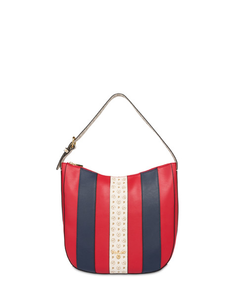 Stripe On Me hobo shoulder bag RED/IVORY/BLUE