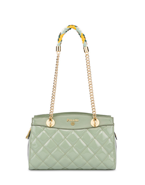 Clio matelassé double handle bag MINT