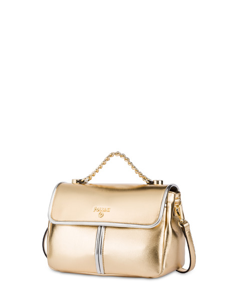 Naxos laminated shoulder bag GOLD/SILVER