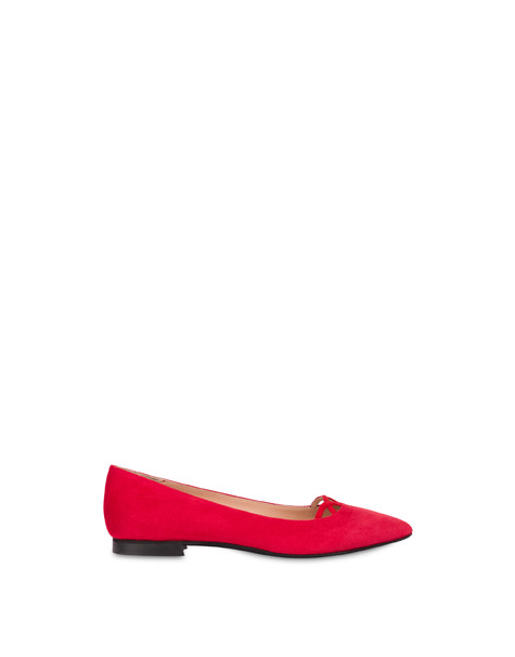 Love In Venice suede ballet flats LAKY RED