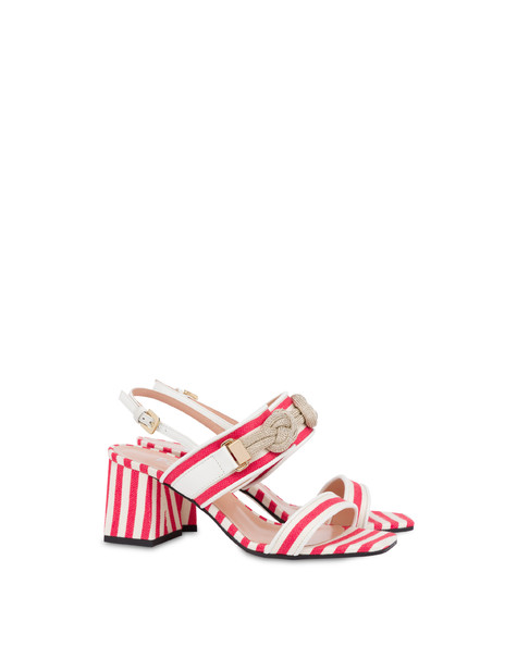 Marina striped canvas sandals LAKY RED-WHITE/WHITE