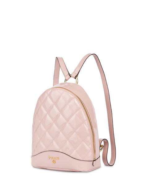 Clio matelassé mini backpack NUDE