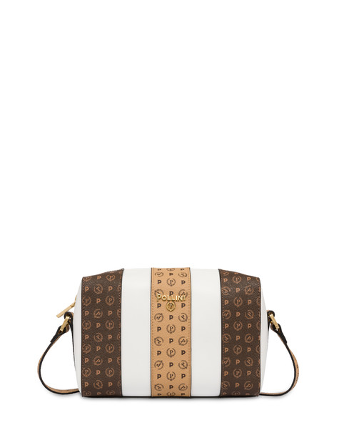 Stripe On Me shoulder bag WHITE/BROWN/CREAM