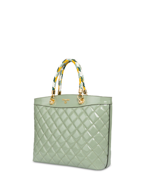 Clio quilted shopping bag with double handle MINT