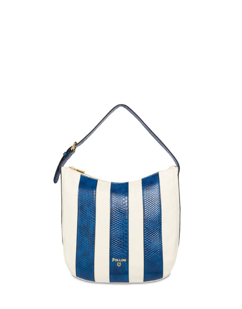 Hobo-Schultertasche Stripe On Me Ecru/Bleu