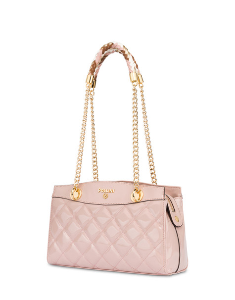 Clio matelassé double handle bag NUDE