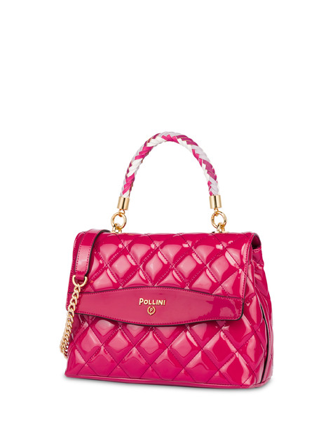 Clio matelassé top handle bag FUCHSIA