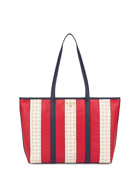 Stripe On Me shopping bag RED/IVORY/BLUE