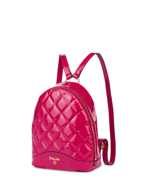 Clio matelassé mini backpack FUCHSIA