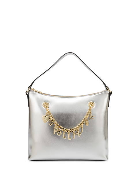 Sea Charms laminated hobo bag SILVER