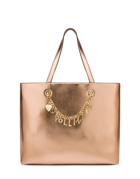 Sea Charms laminated shopping bag COPPER