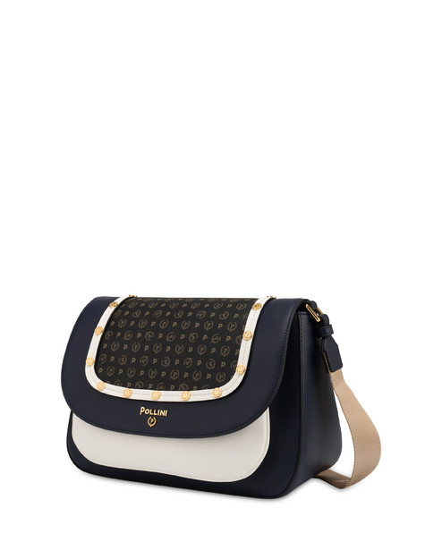 Margarita messenger bag with studs BLUE-WHITE/BLACK