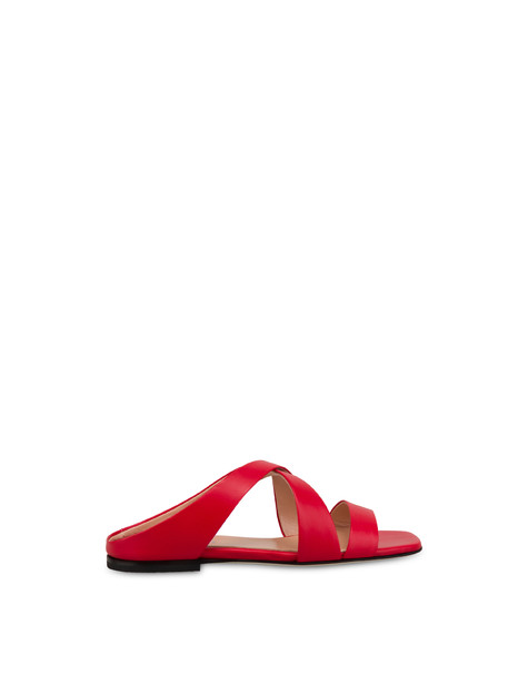 Cote D'Azur calfskin sandals LAKY RED
