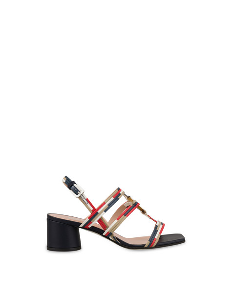 Between The Lines sandals MEDITERRANEAN-SAND-LAKY RED-WHITE