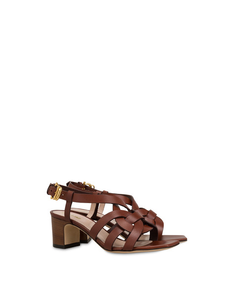 Greek Arco Wave cowhide sandals HIDE